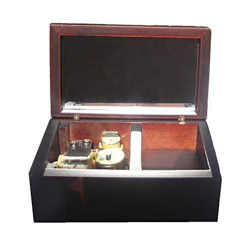 Wind-Up Wooden Musical Jewelry Box,Small Size Storage Music Box,Gift Music Box,Lilium From Elfen Lied Musical Box,with Gold-plating Movement in,Claret