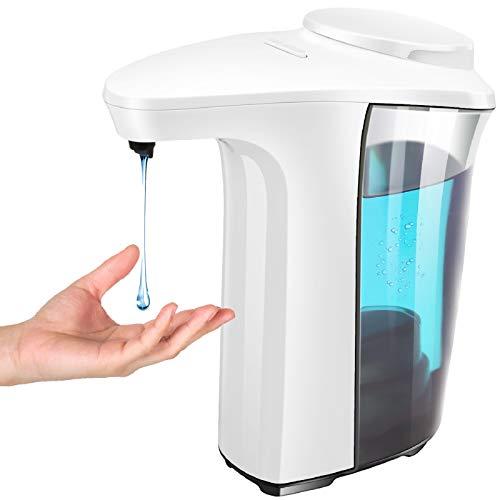 Automatic Soap Dispenser, 500ml/17oz Touchless Liquid Hand Sanitizer Dispenser, Waterproof 5 Adjustable Levels for Bathroom/Kitchen/Public Places