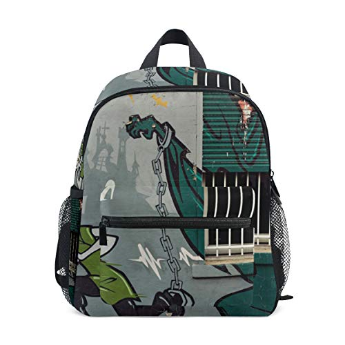 Boy Girl School Daypack Small Student Light Backpack Casual Bag Cute Bookbag Scooby Doo Graffiti