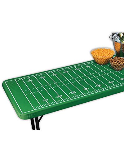 Amscan Fitted Football Field Table Cover, Multicolor