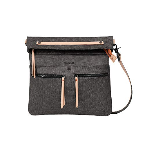 Sherpani Faith 2.0, Fashion Crossbody Bag, Designer Shoulder Bag, Canvas Purses for Women, 7 Inch Tablet Compatibility (Blackstone)