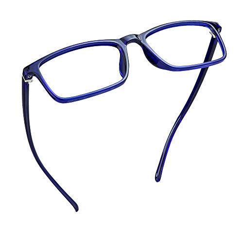 LifeArt Blue Light Blocking Glasses, Anti Eyestrain, Computer Reading Glasses, Gaming Glasses, TV Glasses for Women, Anti Glare (Navy, 1.25 Magnification)