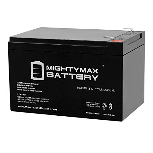 Mighty Max Battery 12V 12AH Replaces Super Cycles Scooter Turbo 800-Elite + 12V Charger Brand Product