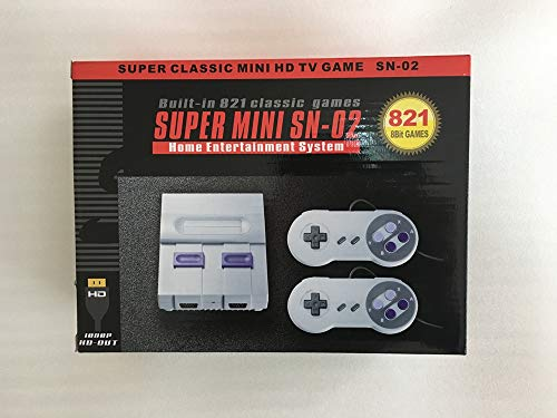 Super Classic Mini HD-OUT TV SNES Game console SN-02 bulit-in 821 Games Console 8 bit Games Home Entertainment System