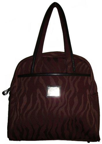 Liz Claiborne Women's Monte Carlo Carry-On Luggage Satchel Handbag, Merlot