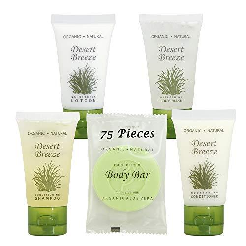 Desert Breeze   1-Shoppe All-In-Kit   Hotel Size Amenities Set   Hotel/AirBnB/VRBO/Vacation Rental Soap Set   (75 pcs)