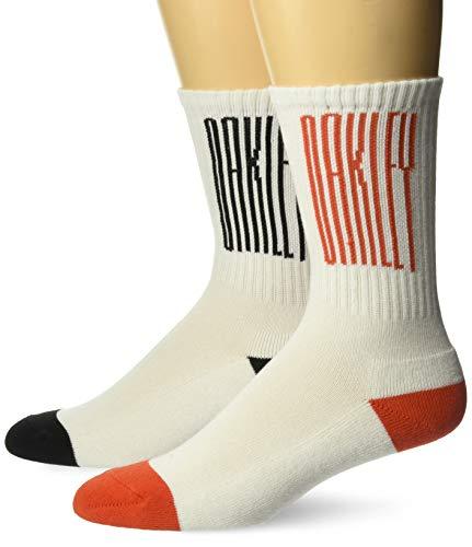 Oakley Men's Socks College (2 Pcs Pack), White, L