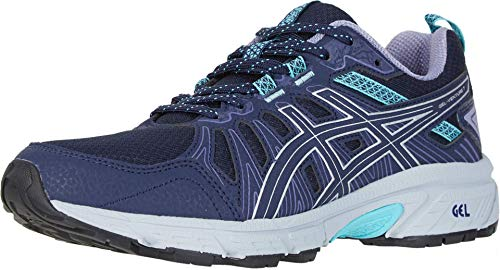 ASICS Women's Gel-Venture 7 Running Shoes, 8, Black/Silver