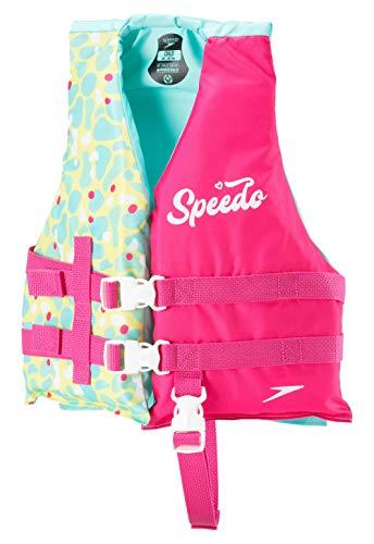 Speedo Unisex-Child Swim Flotation Life Vest Bright Pink, One Size