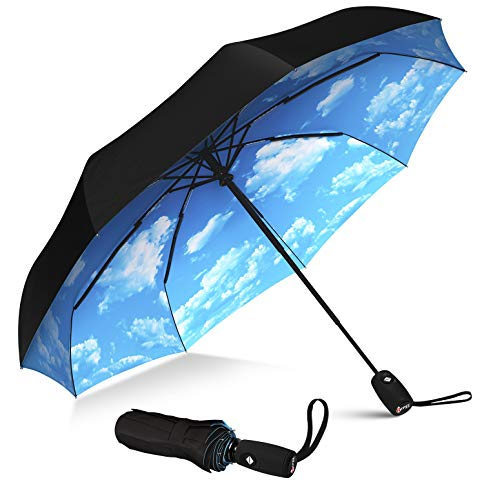 Repel Umbrella Windproof Travel Umbrella - Compact, Light, Automatic, Strong and Portable - Wind Resistant, Small Folding Backpack Umbrella for Rain - Men and Women