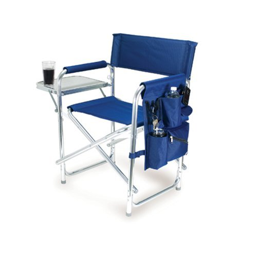 ONIVA - a Picnic Time brand Portable Folding Sports Chair, Navy Blue