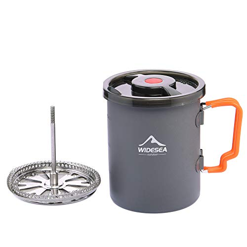 Widesea Camping Coffee Pot 750ML with French Press Coffee Maker