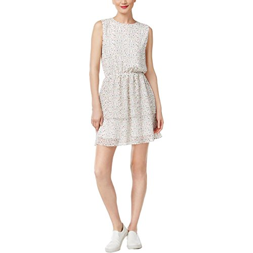 Cynthia Rowley Womens Tiered Peasant Casual Dress White L
