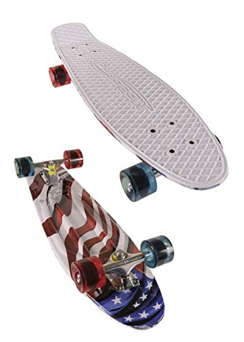 MoBoard 22' Graphic Complete Skateboard, USA Flag