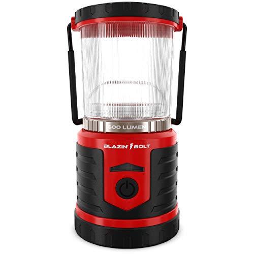 Blazin' Battery LED Rechargeable Lantern | 500 Hour Runtime | Power Bank | Storm Light (600 Lumen, Red)