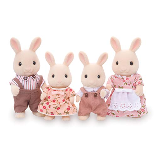 Calico Critters, Sweetpea Rabbit Family, Dolls, Dollhouse Figures, Collectible Toys