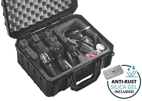 Case Club 3 Pistol & Accessory Pre-Cut Waterproof Case with Silica Gel to Help Prevent Gun Rust