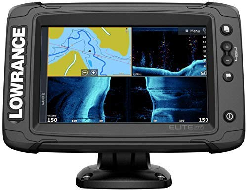 Elite-7 Ti2-7-inch Fish Finder HDI Transducer, Wireless Networking, Real-Time Map Creation US/CAN Navionics+ Mapping Card …