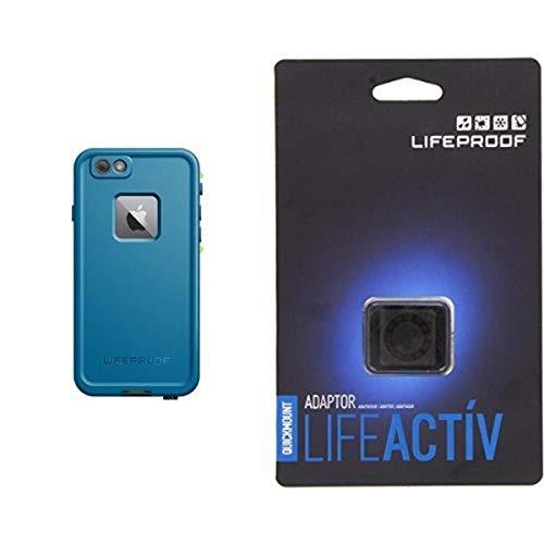 Lifeproof FRE SERIES iPhone 6 Plus/6s Plus Waterproof Case (5.5' Version) - Retail Packaging - BANZAI (COWABUNGA/WAVE CRASH/LONGBOARD) and Lifeproof LifeActiv Quickmount Adapter - Mount - Retail Packaging - Black Bundle