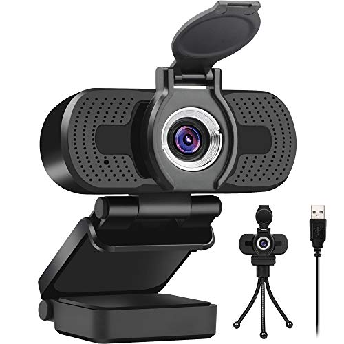 Larmtek 1080p Full Hd Webcam,Computer Laptop Pc Mac Desktop Camera for Conference and Video Call,Pro Stream Webcam with Plug and Play Video Calling,Webcam Stand Included