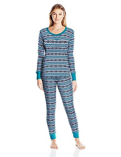 Saint Eve Women's Thermal Pajama Set, Beacon Fair Isle, X-Large