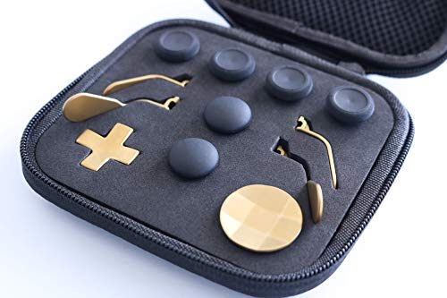 Snakebyte Elite Kit, Xbox One Elite Controller (Version 1) Accessories, Xbox Gaming Accessories, XBOX One Elite Controller Accessory Kit, 6 different Metal Analog Sticks, 4 Paddles and 2 D-Pads, Xbox One, Gold