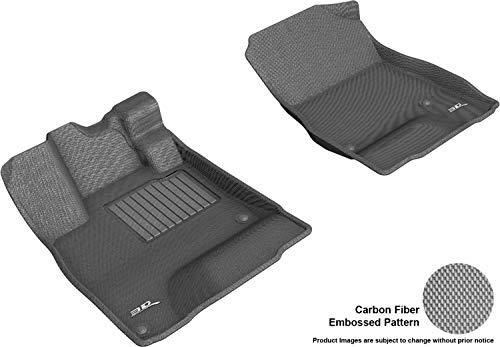 3D MAXpider All-Weather Floor Mats for Honda Clarity Plug-in Hybrid 2018-2019 Custom Fit Car Floor Liners, Kagu Series (1st Row, Gray)