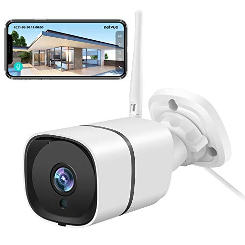 2K 3MP Outdoor WiFi Camera; Security Camera Outdoor with IP66 Waterproof, 2-Way Audio, H.265 Tech; Enhanced Night Vision, Motion Detection; 8X digital zoom,2.4GHz WiFi, Cloud Storage/SD Card