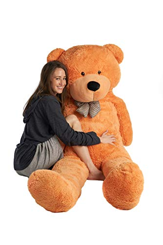 Mr. Bear Cares Giant Stuffed 78 inches (6.5 Feet) Teddy Bear Gift for a Loved One - Soft and Cuddly - Light Brown