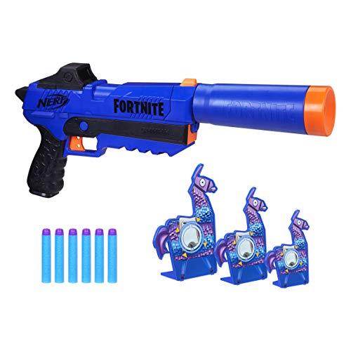 NERF Fortnite Sp-R & Llama Targets -- Includes Sp-R Blaster, 3 Llama Targets, & 6 (Amazon Exclusive)