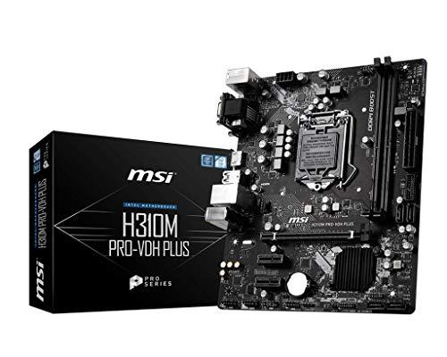 MSI ProSeries Intel Coffee Lake H310 LGA 1151 DDR4 D-Sub DVI HDMI Onboard Graphics Micro ATX Motherboard (H310M PRO-VDH Plus)