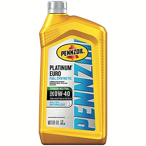Pennzoil Platinum Euro Full Synthetic 0W-40 Motor Oil (1-Quart, Single)