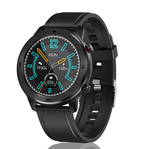 KKUYI Smart Watch in Multiple Dial Style, Fitness Tracker with Heart Rate Monitor, Watch with Blood Pressure Blood Oxygen Module, IP68 Waterproof Smart Watch 1.3' Touch Screen, Activity Tracker Sleep