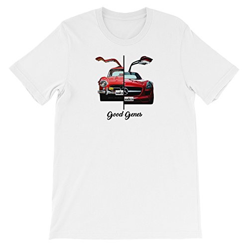 Shift Shirts Good Genes - Mercedes Benz 300L Gullwing Inspired Unisex T-Shirt White