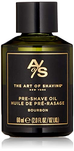 The Art of Shaving Pre Shave Beard Oil - Shaving Oil for Men, Protects Against Irritation and Razor Burn, Clinically Tested for Sensitive Skin, Bourbon, 2 Ounce