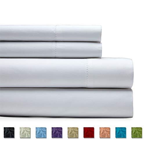 Kotton Culture 600 Thread Count 4 Piece Bed Sheet Set 100% Egyptian Cotton with 20 Inch Extra Deep Pocket Premium Super Soft Hotel Quality Bedding (Queen, White)