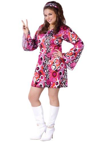 Plus Size Feelin Groovy Dress Costume Plus Pink