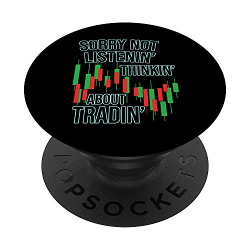 Funny Day Trading Quote Stock Market Gifts PopSockets PopGrip: Swappable Grip for Phones & Tablets