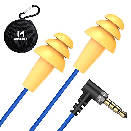 Work Earbuds Headphones, Mipeace Ear Plug Headphones for Work-OSHA Approved Noise isolating Earbuds Earphones for Industrial Safety Construction
