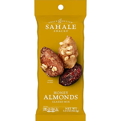 Sahale Snacks Honey Almonds Glazed Mix, 1.5 Ounces (Pack of 9)