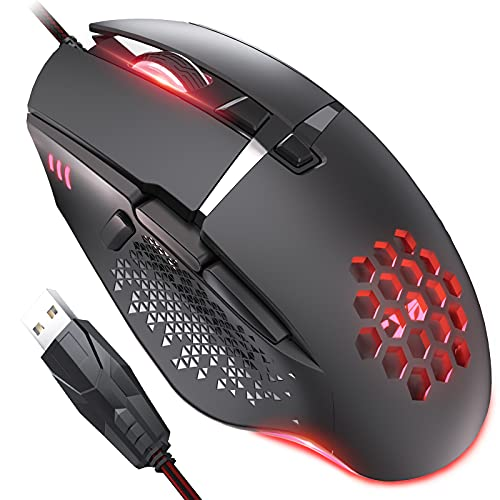 CYD C303 RGB Gaming Mouse for Laptop, USB 3.0 Wired Gaming Mouse, Ergonomic Design Mouse Gaming Wired, Programmable Mouse Gamer, Snap-Change Tracking & Shootout Mouse Wired RGB