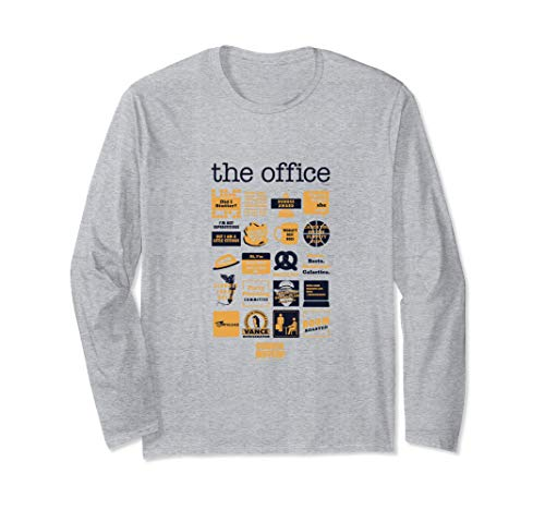The Office Quote Mash-Up Funny Long Sleeve T-Shirt