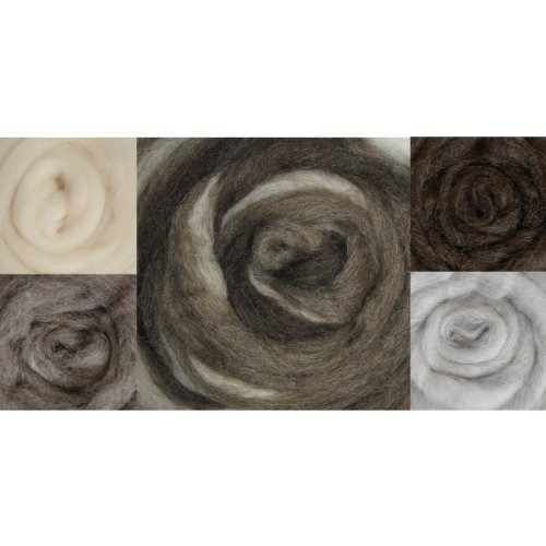 Wistyria Editions Wool Roving, 12-Inch, Furry Friends Two, 8-Pack