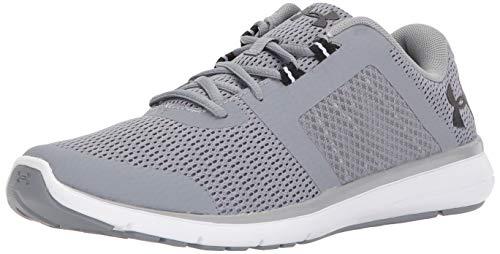 Under Armour Men's Fuse FST Running Shoe, Steel (100)/White, 9.5