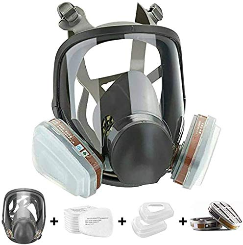 15in1 Full Face Large Size Respirator,Full Face Wide Field of View,Widely Used in Organic Gas,Paint spary, Chemical,Woodworking(for 6800 Respirator)