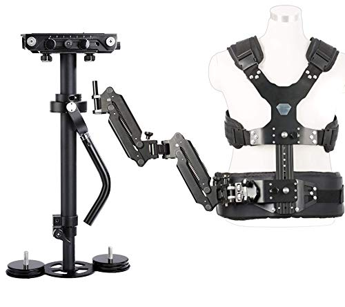 Movo VS3K Steadycam Stabilizer Bundle with Dual Articulating Arm and Body Vest - for DSLR Cameras and Video Camcorders