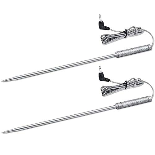 Upgraded 8 Inches Meat Thermometer Probe Replacement Temperature Probe for Thermopro TP20 TP17 TP16 TP25 TP10 TP09 TP08 TP-08S TP-07 TP06S TP04, Famili MT004 OT007 OT009 OT-08, Fit Listed Models Only