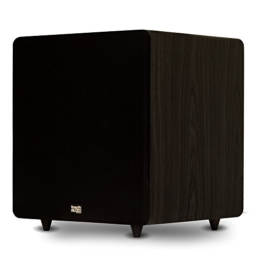 Acoustic Audio PSW600-15 Home Theater Powered 15' LFE Subwoofer Black Front Firing Sub
