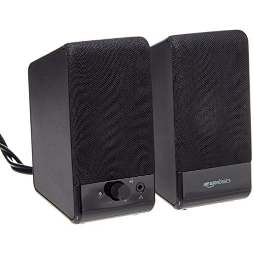 Amazon Basics Computer Speakers for Desktop or Laptop PC | USB-Powered