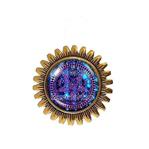 Handmade Fashion Jewelry Pentagram Art Symbol Black Butler Brooch Badge Pin Cosplay Tetragrammaton Ciel Phantomhive Jewelry Charm